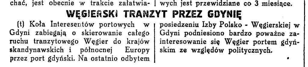 Węgierski tranzyt przez Gdynię