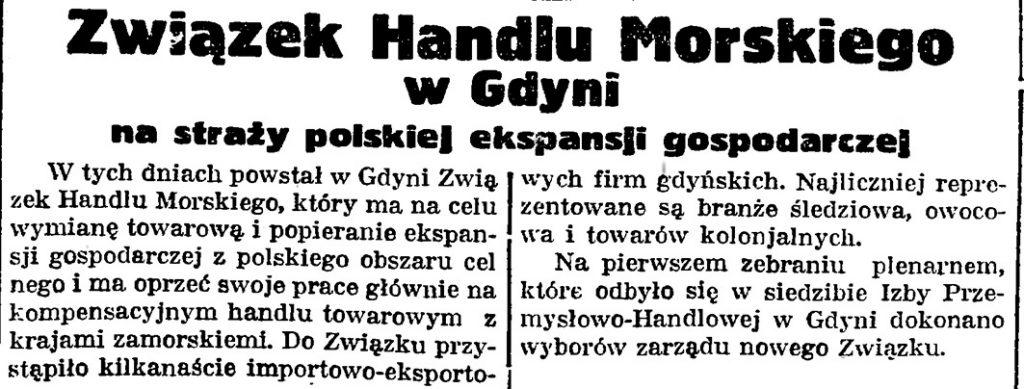 Związek Handlu Morskiego w Gdyni