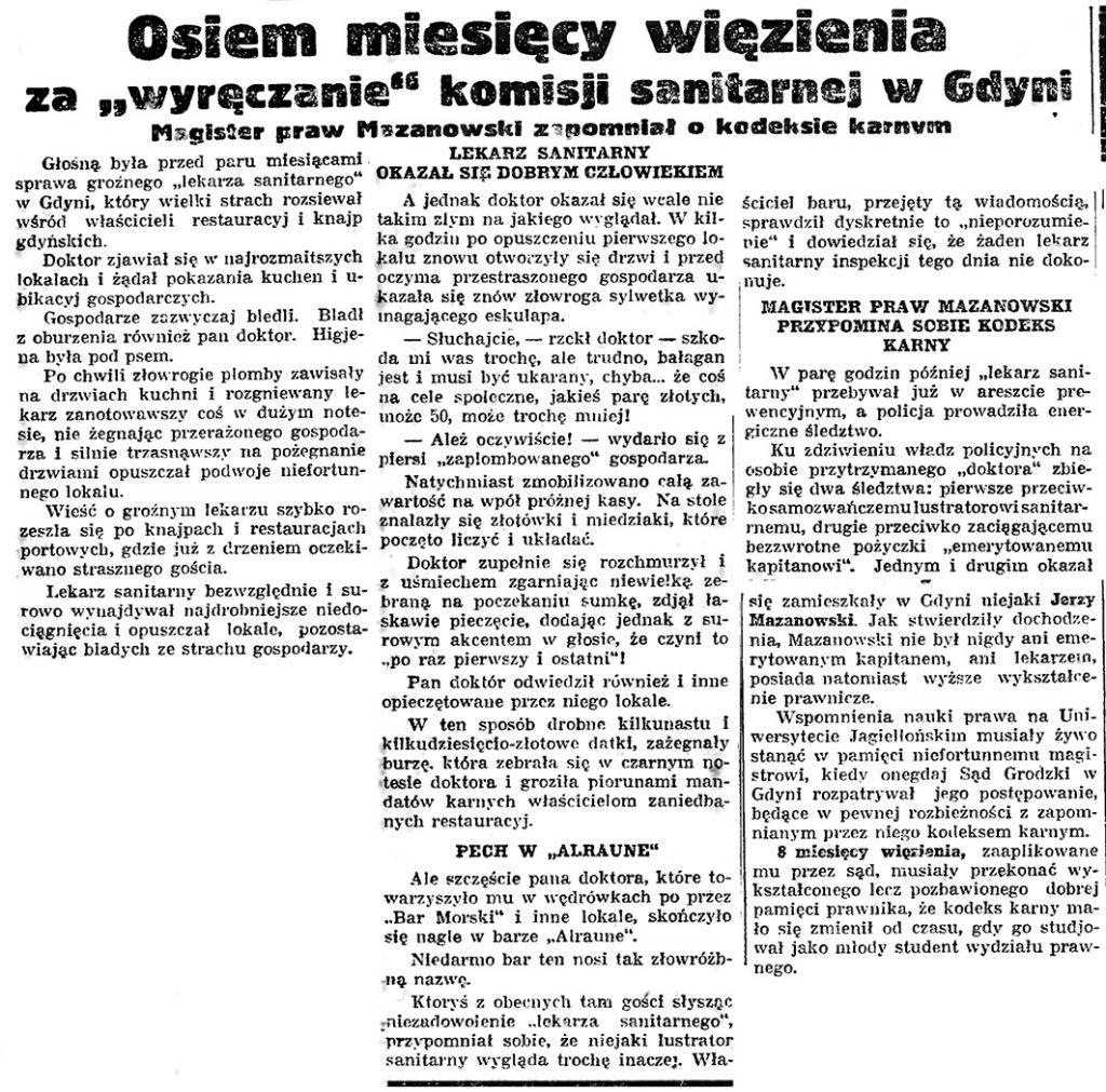 """Osiem miesięcy więzienia """"wyręczanie"""" Komiosji Sanitarnej. Magister praw Mszanowski zapomniał o kodeksie karnym"""