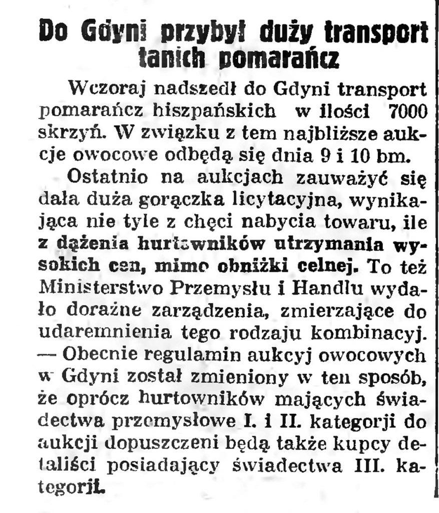 Do Gdyni przybył duzy transport tanich pomarańczDo Gdyni przybył duzy transport tanich pomarańcz