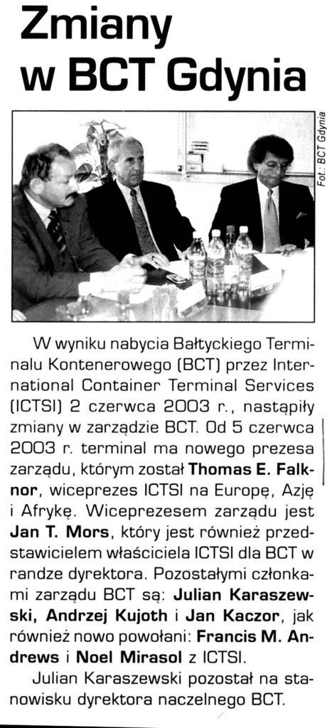 Zmiany w BCT Gdynia