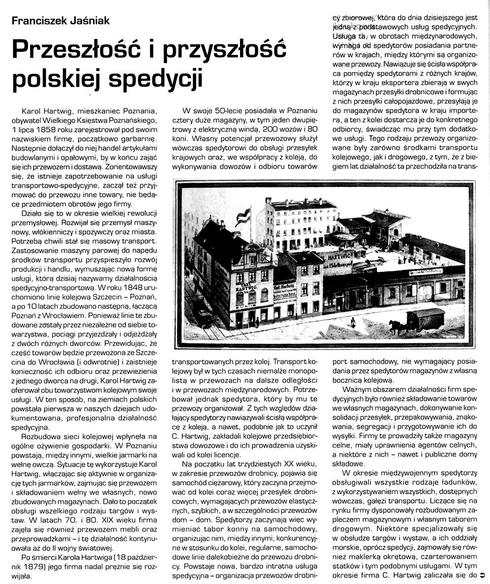 Przeszłość i przyszłość polskiej spedycji