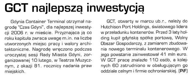 GCT naajlepszą inwestycją