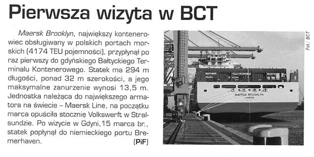 Pierwsza wizyta w  BCT