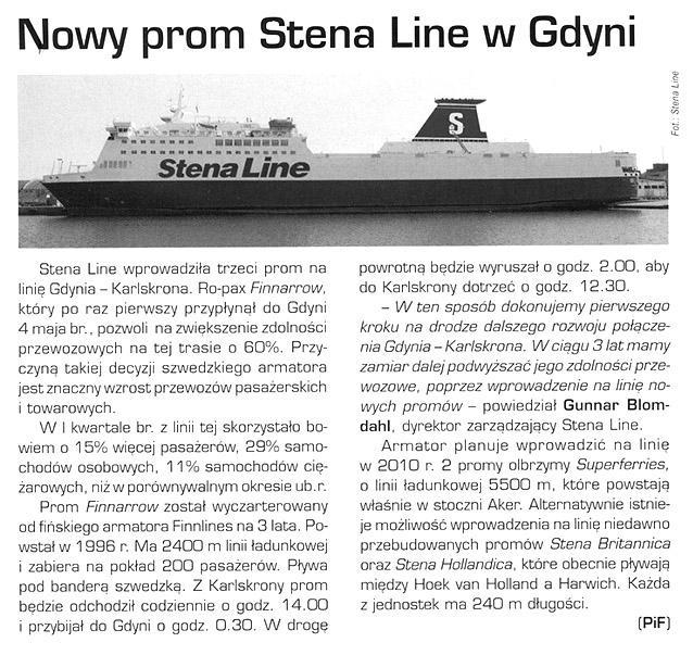 Nowy prom Stena Line w Gdyni