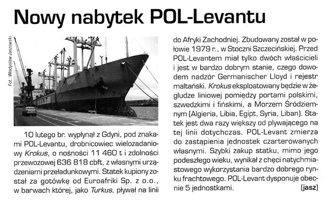 Nowy nabytek POL-Levantu