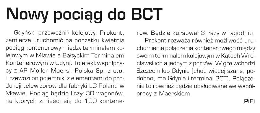Pociąg do BCT