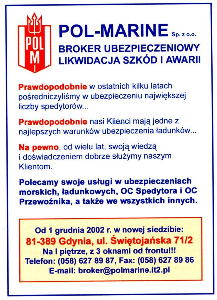 POL-MARINE Sp. z o.o. broker ubezpieczeniowy likwidacja szkód i awarii