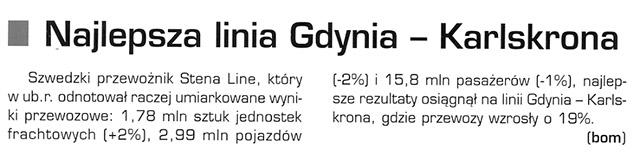 Najelpsza linia Gdynia - Karlskrona