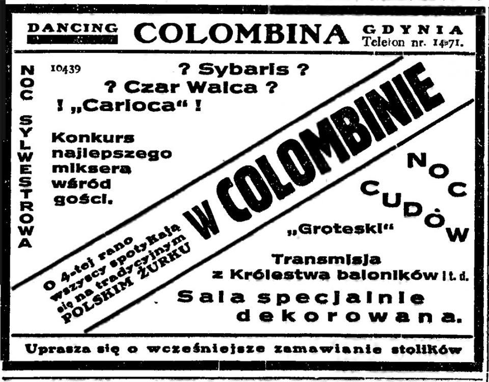 DANCING COLOMBINA NOC SYLWESTROWA O 4-tej rano wszyscy spotykają się na tradycyjnym POLSKIM ŻURKU