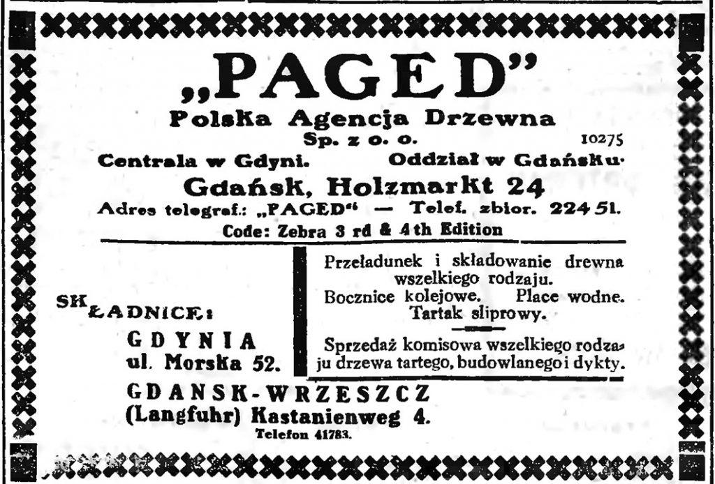 """""""PAGED"""" Polska Agencja Drzewna Sp. z o. o."""