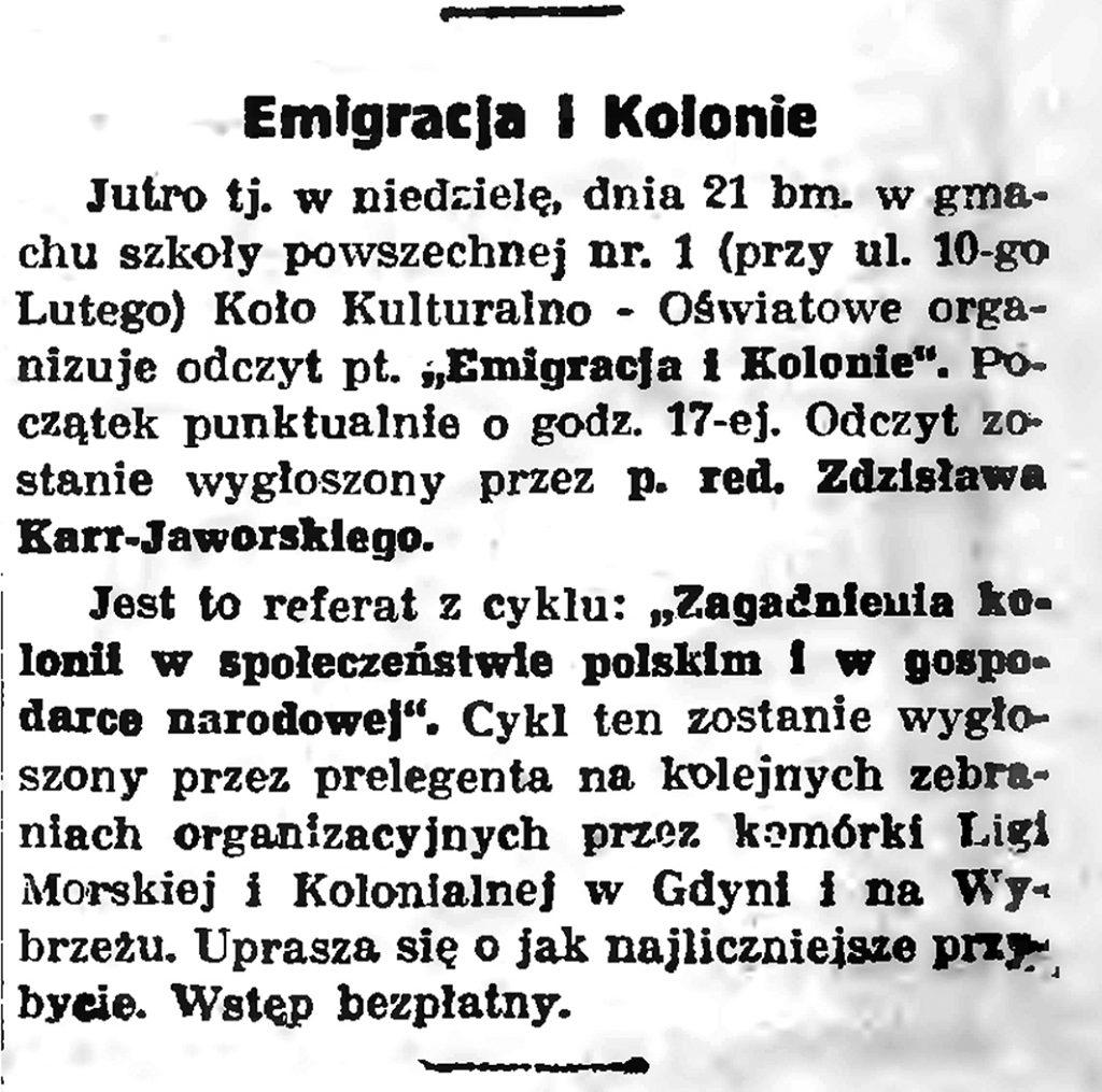 Emigracja i kolonie