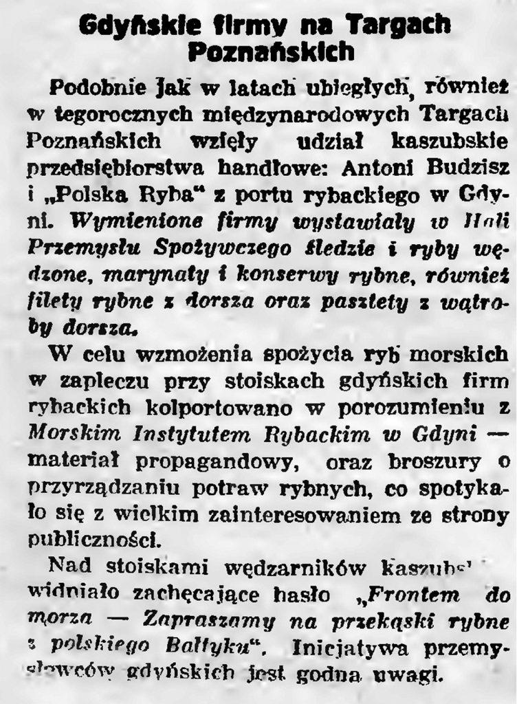 Gdyńskie firmy na Targach Poznańskich