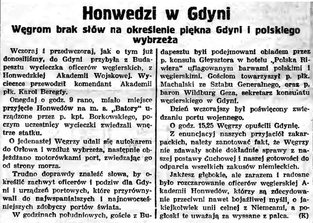 Honwedzi w Gdyni. Węgrom brak słów na określenie piekna Gdyni i polskiego wybrzeża