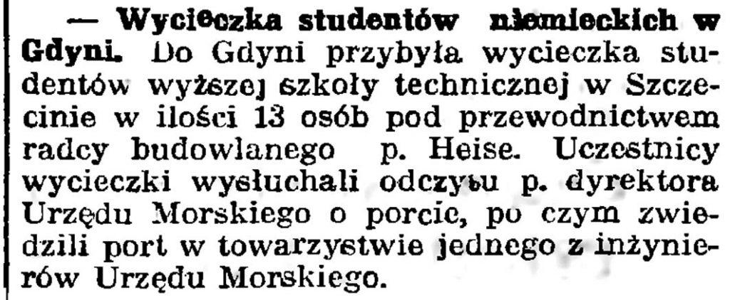 Wycieczka studentów niemieckich w Gdyni