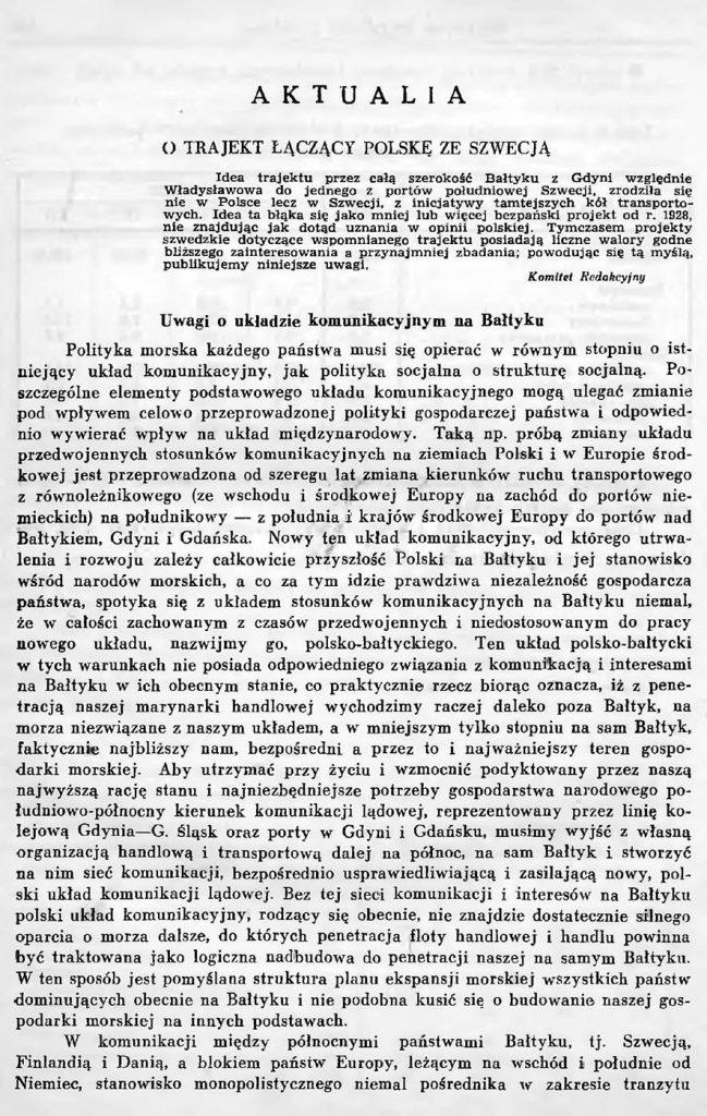 O trajekt łączący Polskę ze Szwecją