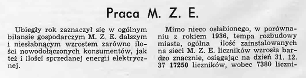 Praca M. Z. E.