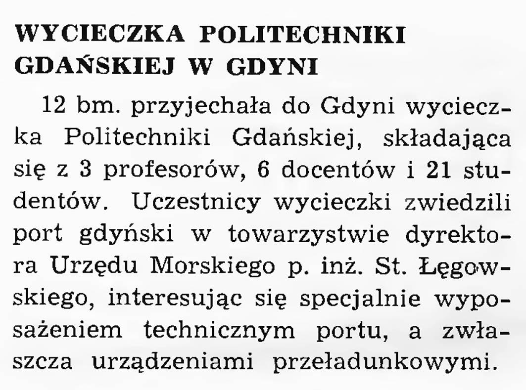 Wycieczka Politechniki Gdańskiej w Gdyn