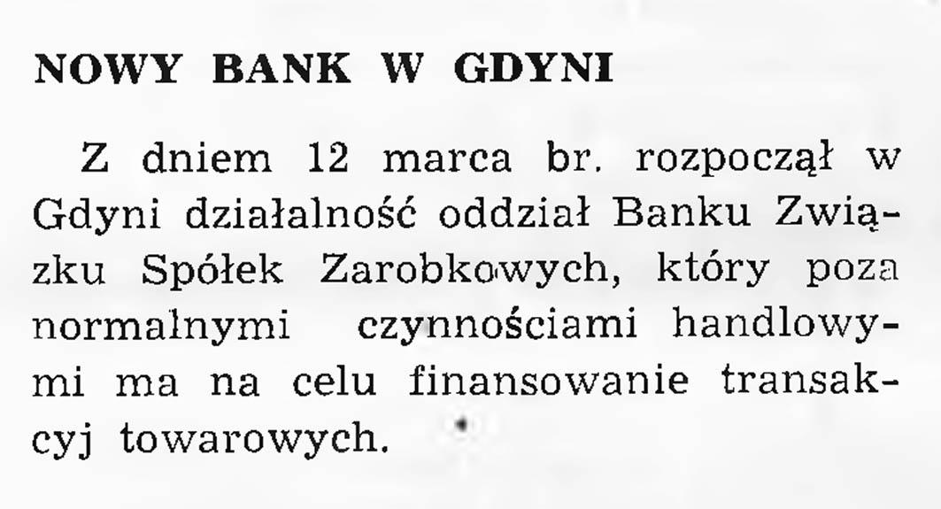 Nowy bank w Gdyni