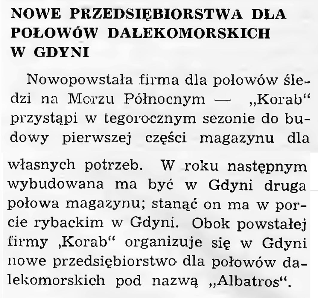 Nowe przedsiębiorstwa dla połowów dalekomorskich w Gdyni