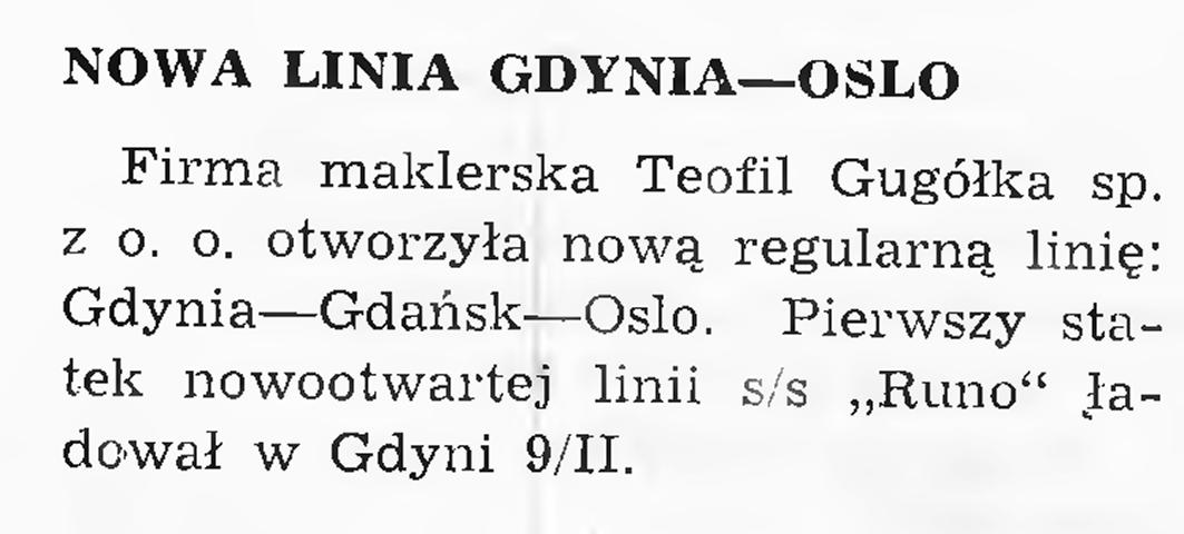 Nowa linia Gdynia - Oslo