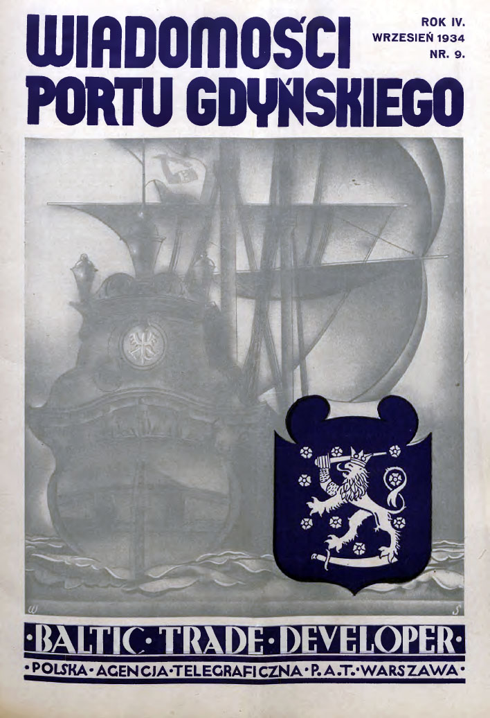 Wiadomości Portu Gdyńskiego. - 1934, z. 9