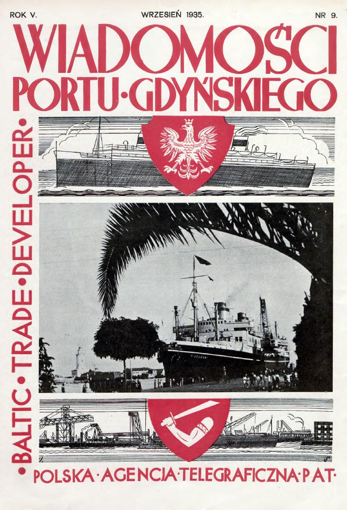 Wiadomości Portu Gdyńskiego. - 1935, z. 9