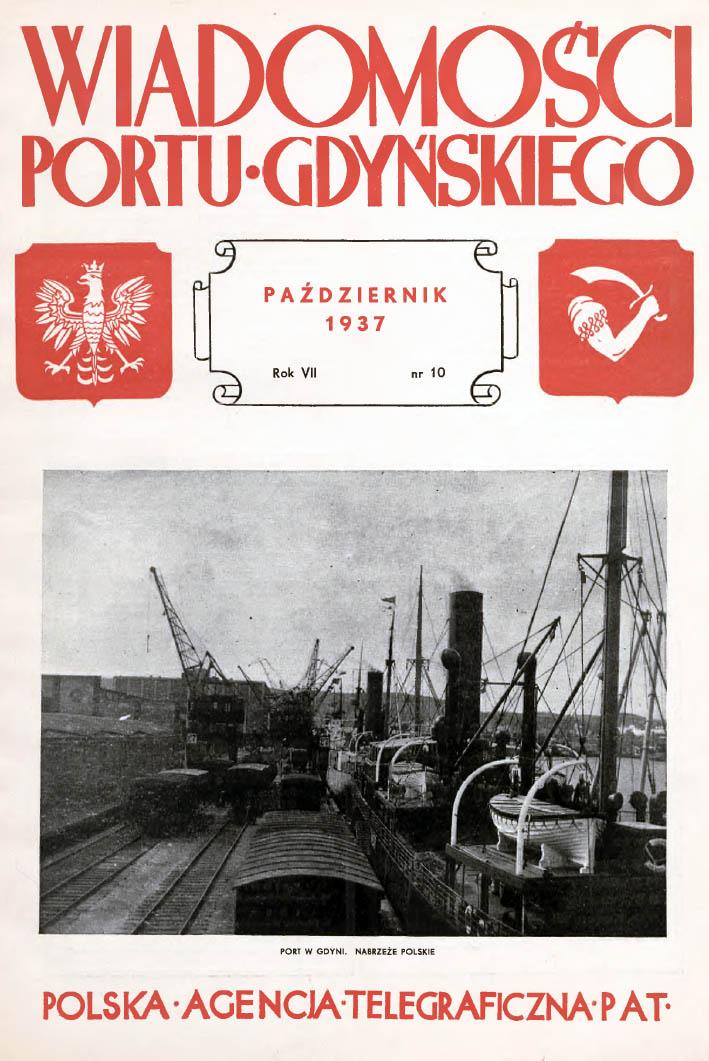 Wiadomości Portu Gdyńskiego. - 1937, nr 10