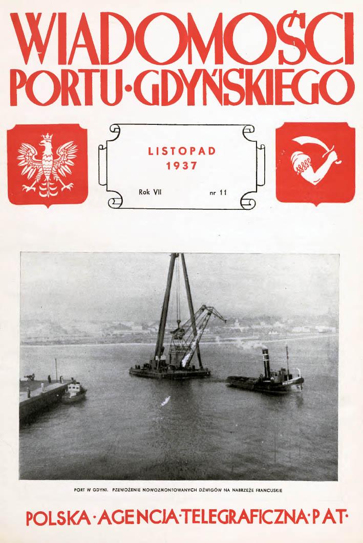 Wiadomości Portu Gdyńskiego. - 1937, nr 11