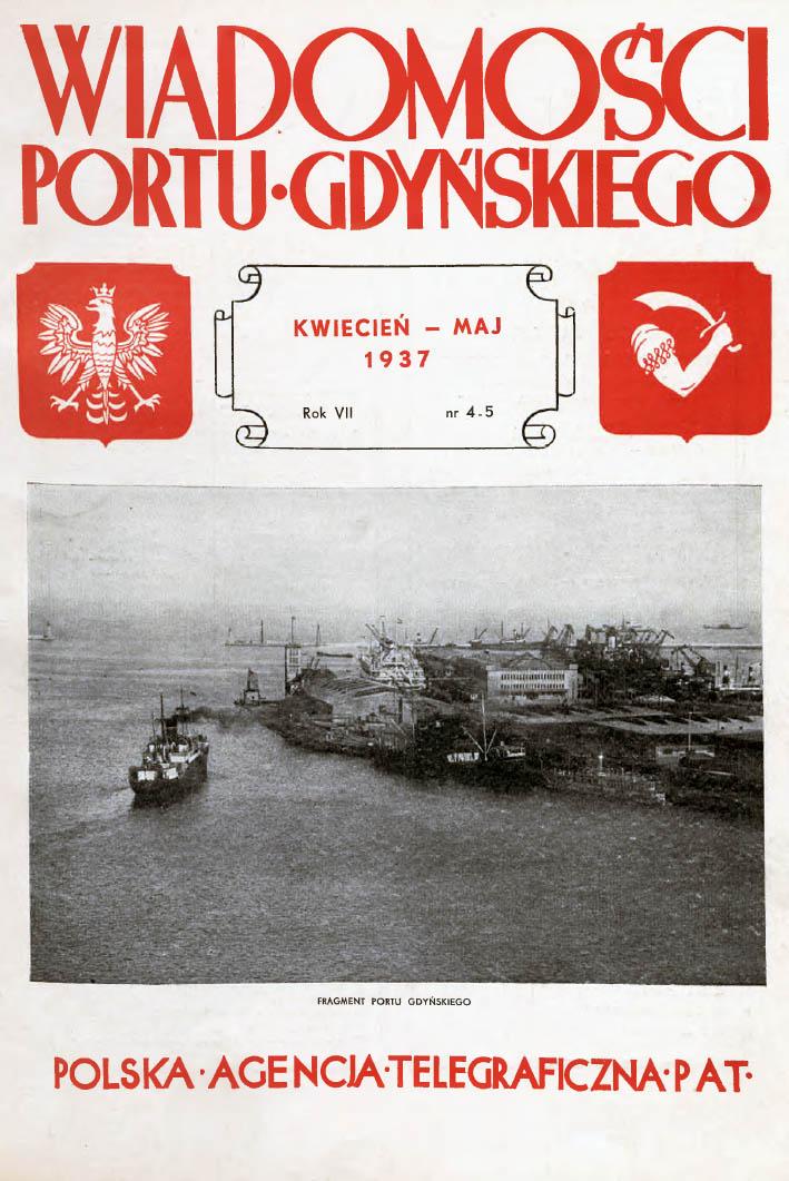 Wiadomości Portu Gdyńskiego. - 1937, nr 4_5