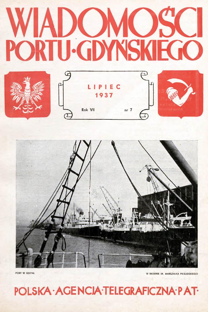 Wiadomości Portu Gdyńskiego. - 1937, nr 7