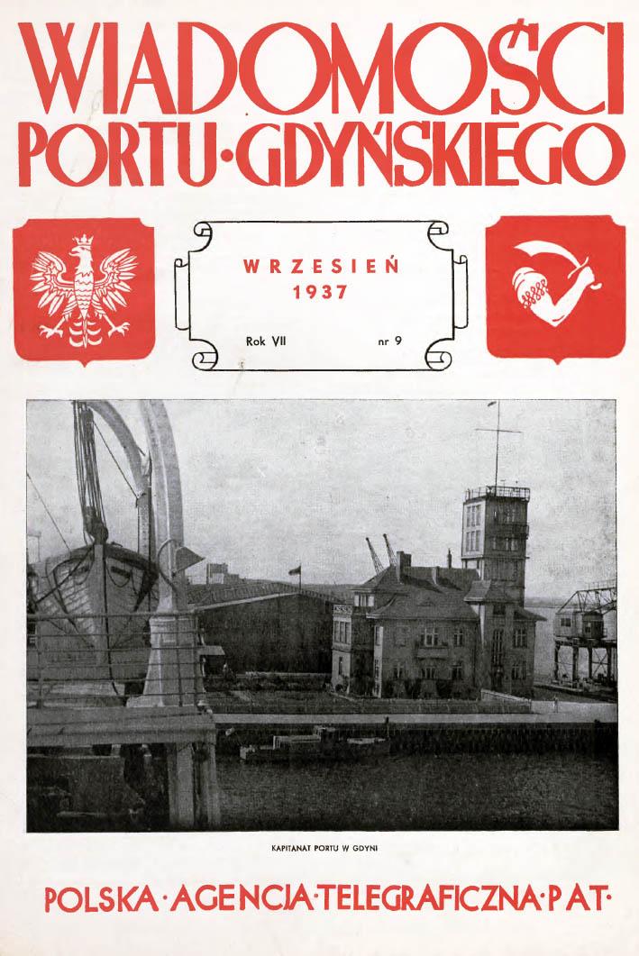 Wiadomości Portu Gdyńskiego. - 1937, nr 9