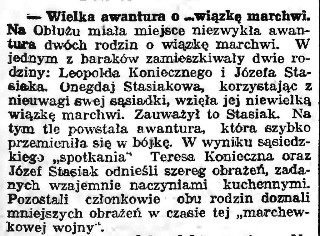 """Wielka awantura o """"wiązkę marchwi"""" Gazeta Gdańska. - 1939, nr 10, s. 7"""
