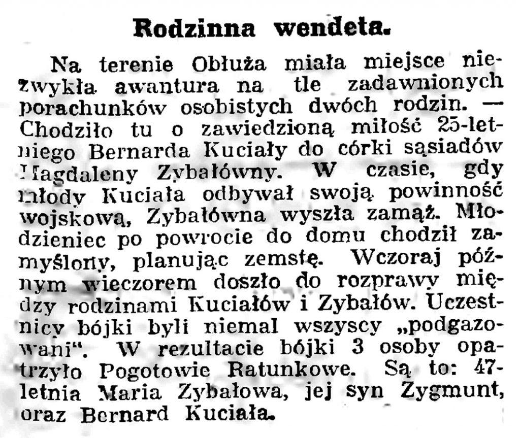 Rodzina wendeta // Gazeta Gdańska. - 1939, nr 17, s. 7