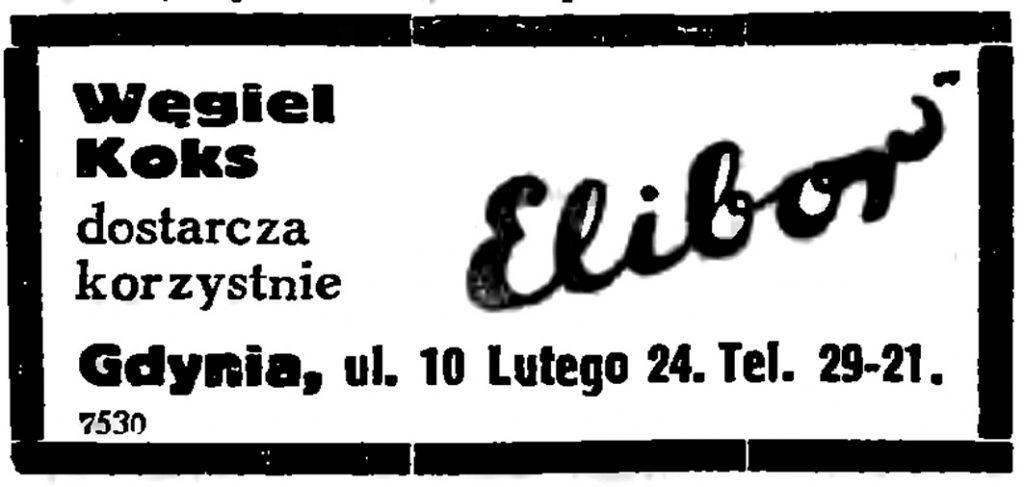 Węgiel   Koks    dostarcza korzystnie ELIBOR,   Gdynia, ul. 10 Lutego 4