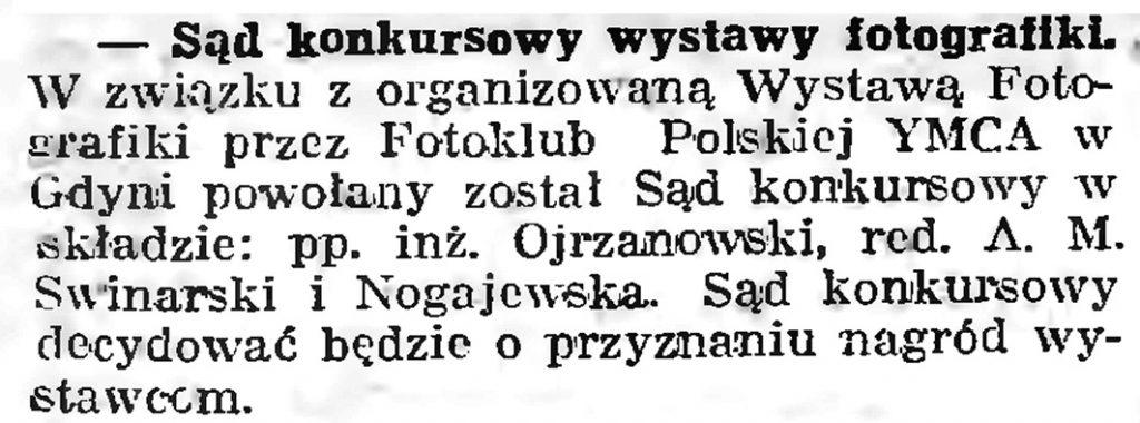 Sąd konkursowy wystawy fotografiki // Gazeta Gdańska. - 1939, nr 9, s. 7