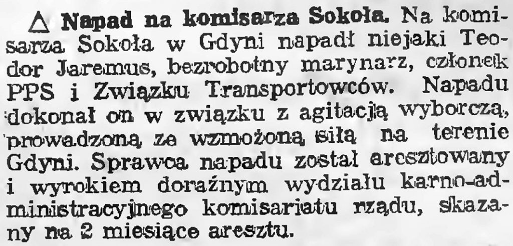 Napad na komisarza Sokoła
