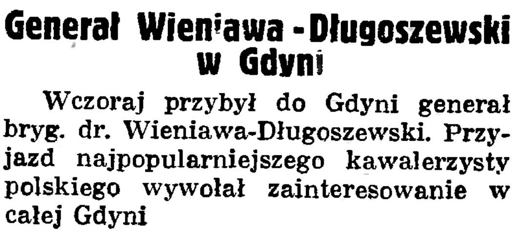 Generał Wieniawa-Długoszewski w Gdyni