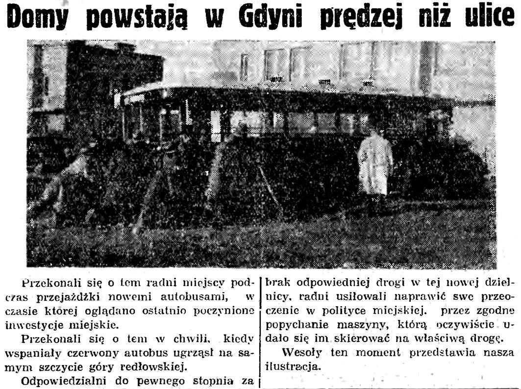 Domy powstają w Gdyni prędzej niż ulice // Gazeta Gdańska. - 1935, nr 105, s. 12
