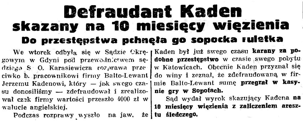 """Odysseja """"ślepego"""" pasażera na Defraudant Kaden skazany na 10 miesięcy więzienia"""