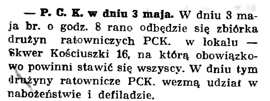 Polski Czerwony Krzyż w Dniu 3 maja