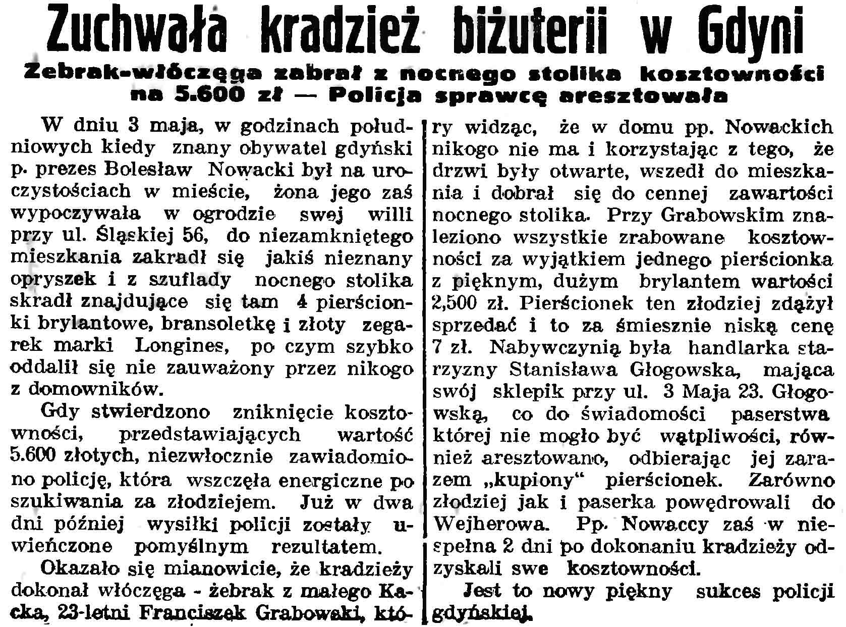 Zuchwała kradzież biżuterii w Gdyni