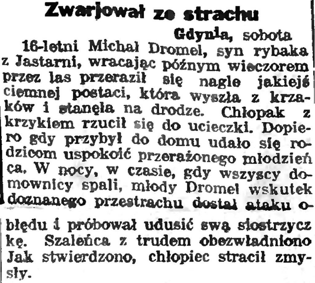 Chłopiec okrętowy włamywaczem // Słowo Pomorskie. - 1935, nr 5, s. 6