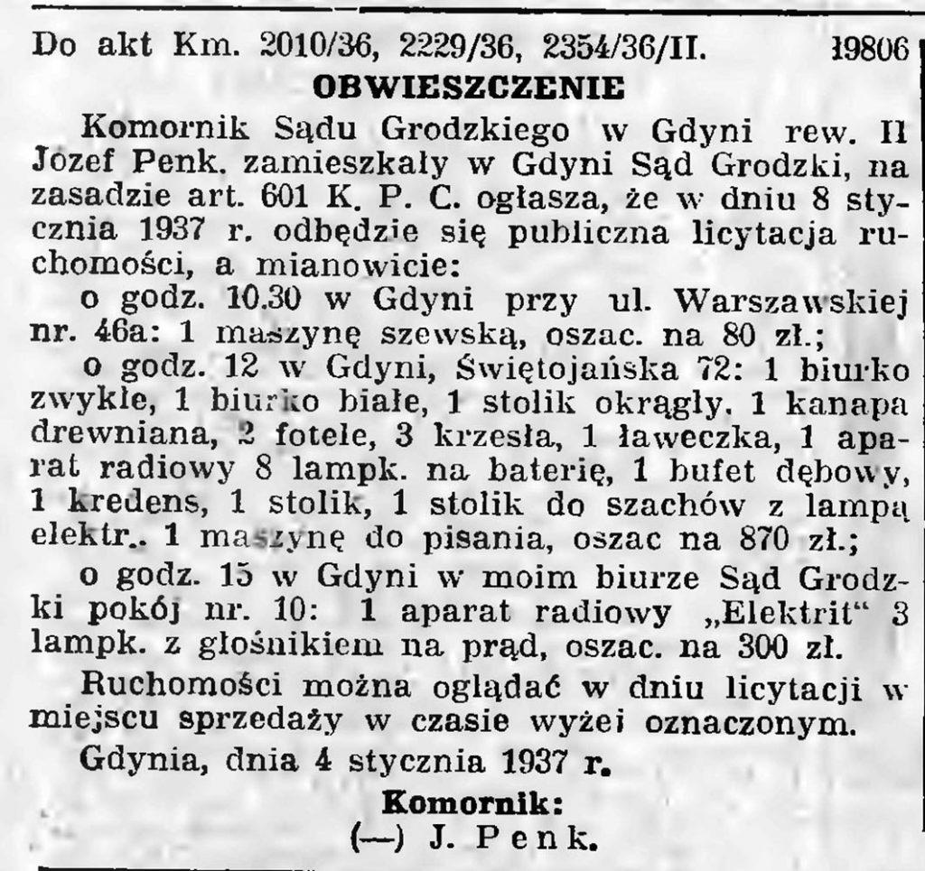 OBWIESZCZENIE Komornik s. 16