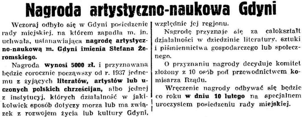 Nagroda artystyczno-naukowa Gdyni