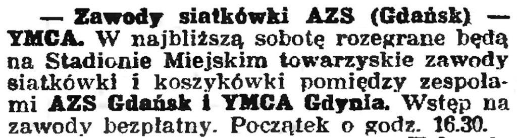 Zawody siatkówski AZS (Gdańsk) - YMCA