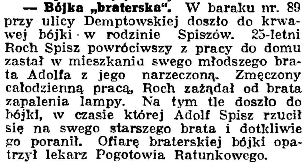 """Bójka """"braterska"""" // Gazeta Gdańska. - 1939, nr 24, s. 12"""
