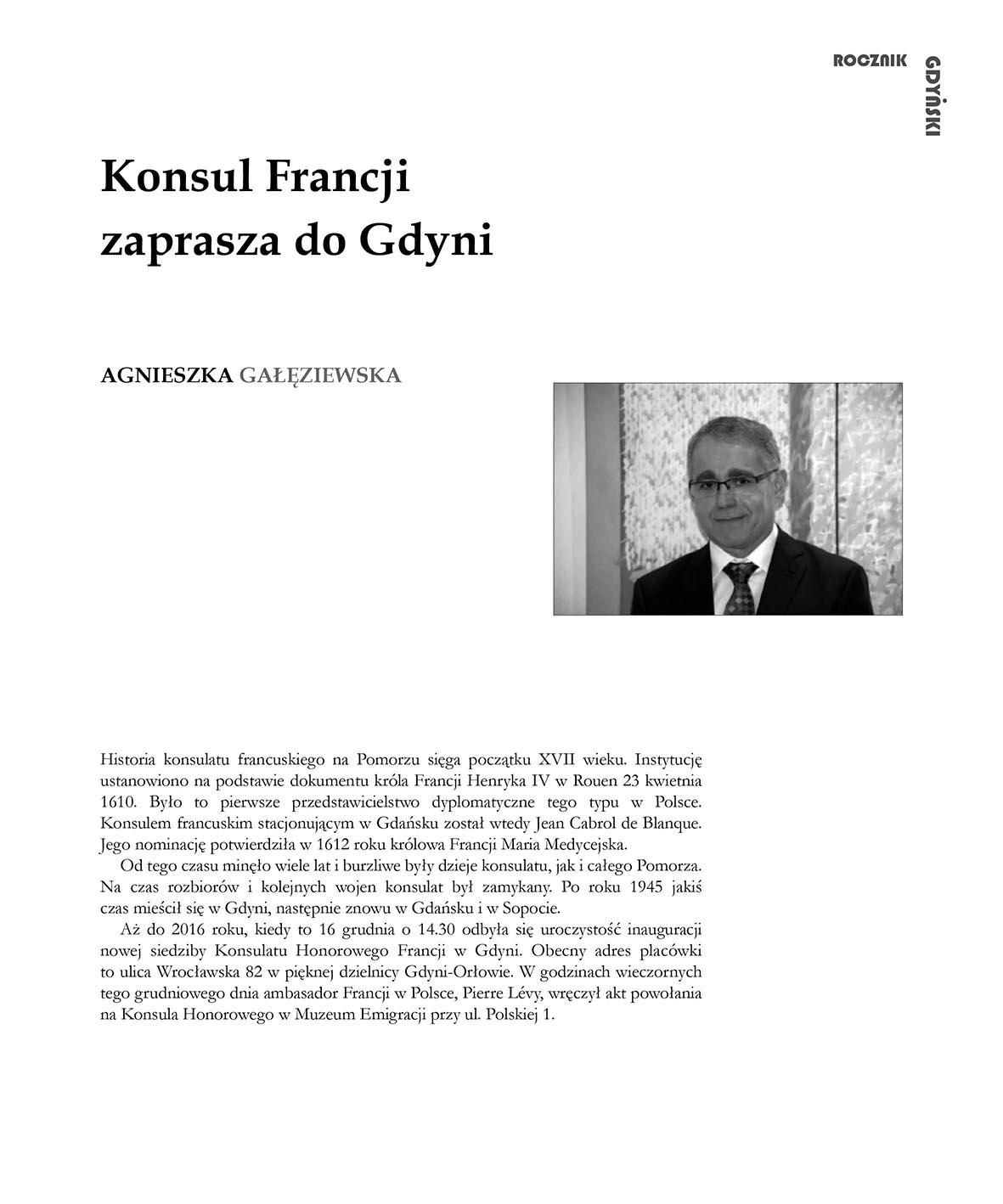Konsul Francji zaprasza do Gdyni