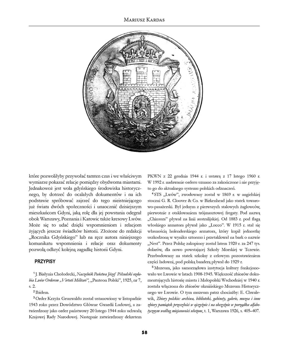 Lwów - Gdynia przedwojenne siostrzyce - komunikat
