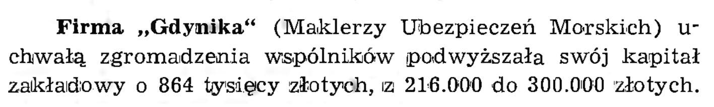 """Firma """"Gdynika"""" // Wiadomości Portowe. - 1939, nr 1/2, s. 21"""